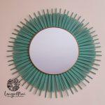 Miroir bleu turquoise