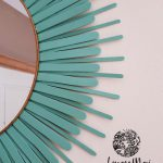 Miroir bleu turquoise (détail)