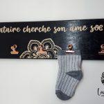 Porte-chaussettes célibataires 70 x 10cm