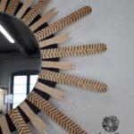 Miroir bois pyrogravé (détail)