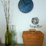 Horloge murale bleu azur