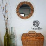 Miroir bouchons et laiton