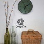 Horloge murale vert malachite