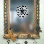 Miroir bois insectes